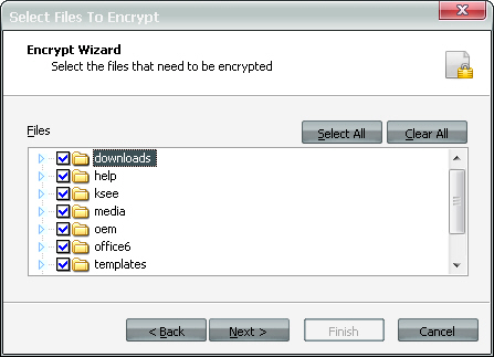 File Selection of Encryption Tool